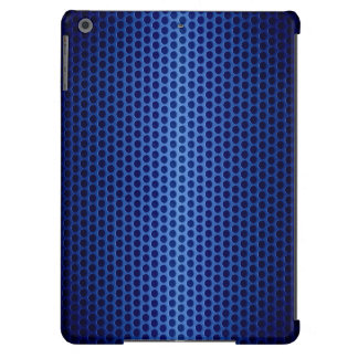 Blue Stainless Steel Metal Hole Case For iPad Air