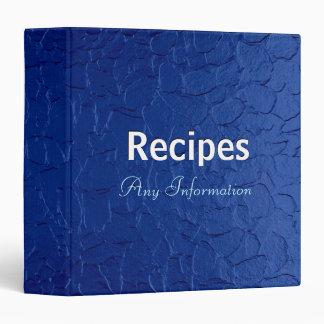 Blue stainless steel metal | Recipes binders