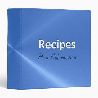 Blue stainless steel metallic | Recipes binders