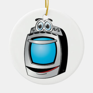 Blue Stainless Steel Stove Cartoon Ceramic Ornament