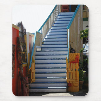 Blue Stairway Mouse Pad