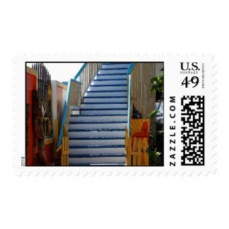 Blue Stairway Postage