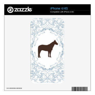 blue stallion iPhone 4S decal