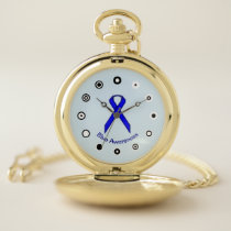 Blue Standard Ribbon (Bf) by K Yoncich Pocket Watch