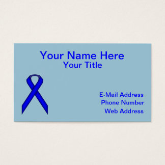 Blue Standard Ribbon Business Card