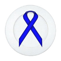 Blue Standard Ribbon Button Covers
