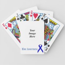 Blue Standard Ribbon by Kenneth Yoncich Bicycle Playing Cards