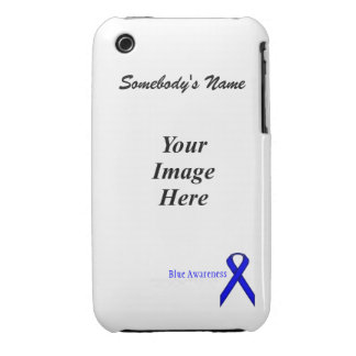 Blue Standard Ribbon by Kenneth Yoncich Case-Mate iPhone 3 Case
