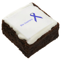 Blue Standard Ribbon by Kenneth Yoncich Chocolate Brownie