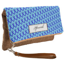 Blue Standard Ribbon by Kenneth Yoncich Clutch