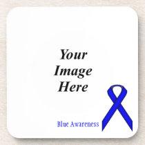 Blue Standard Ribbon by Kenneth Yoncich Drink Coaster