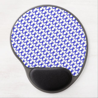 Blue Standard Ribbon by Kenneth Yoncich Gel Mouse Pad