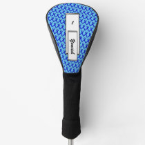 Blue Standard Ribbon by Kenneth Yoncich Golf Head Cover