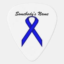 Blue Standard Ribbon by Kenneth Yoncich Guitar Pick