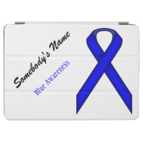 Blue Standard Ribbon by Kenneth Yoncich iPad Air Cover