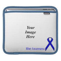 Blue Standard Ribbon by Kenneth Yoncich iPad Sleeve