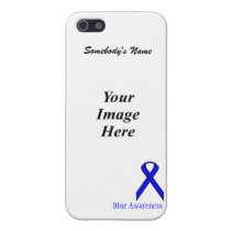 Blue Standard Ribbon by Kenneth Yoncich iPhone SE/5/5s Case