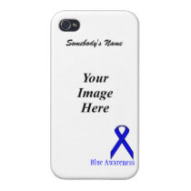 Blue Standard Ribbon by Kenneth Yoncich iPhone 4/4S Case