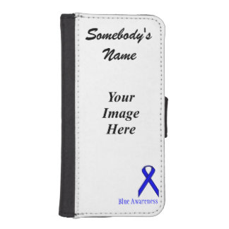 Blue Standard Ribbon by Kenneth Yoncich iPhone SE/5/5s Wallet Case