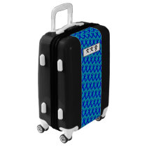 Blue Standard Ribbon by Kenneth Yoncich Luggage