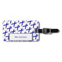 Blue Standard Ribbon by Kenneth Yoncich Luggage Tag