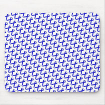 Blue Standard Ribbon by Kenneth Yoncich Mouse Pad