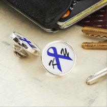 Blue Standard Ribbon by Kenneth Yoncich Pin