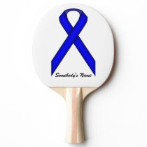 Blue Standard Ribbon by Kenneth Yoncich Ping-Pong Paddle