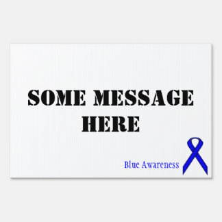 Blue Standard Ribbon by Kenneth Yoncich Sign