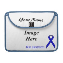 Blue Standard Ribbon by Kenneth Yoncich Sleeve For MacBooks