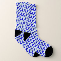 Blue Standard Ribbon by Kenneth Yoncich Socks
