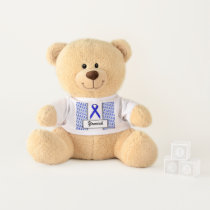 Blue Standard Ribbon by Kenneth Yoncich Teddy Bear