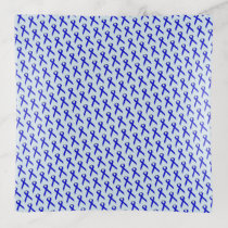 Blue Standard Ribbon by Kenneth Yoncich Trinket Trays