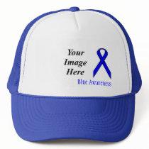 Blue Standard Ribbon by Kenneth Yoncich Trucker Hat