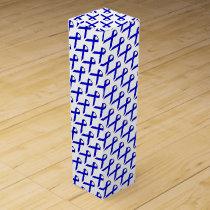 Blue Standard Ribbon by Kenneth Yoncich Wine Box