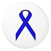 Blue Standard Ribbon Ceramic Knob