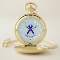 Blue Standard Ribbon (Cf) by K Yoncich Pocket Watch