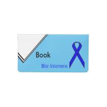 Blue Standard Ribbon Checkbook Cover