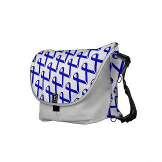 Blue Standard Ribbon Courier Bag