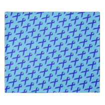 Blue Standard Ribbon Duvet Cover