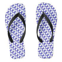 Blue Standard Ribbon Flip Flops