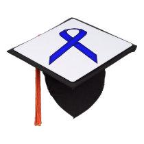 Blue Standard Ribbon Graduation Cap Topper