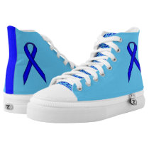 Blue Standard Ribbon High-Top Sneakers