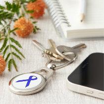 Blue Standard Ribbon Keychain