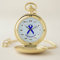 Blue Standard Ribbon (Kf) by K Yoncich Pocket Watch