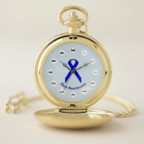 Blue Standard Ribbon (Mf) by K Yoncich Pocket Watch