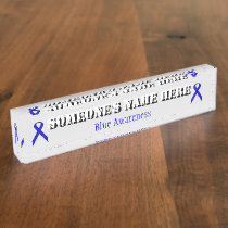 Blue Standard Ribbon Name Plate