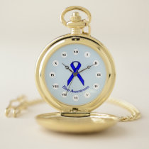 Blue Standard Ribbon (Rf) by K Yoncich Pocket Watch