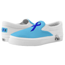 Blue Standard Ribbon Slip-On Sneakers