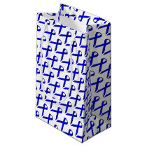 Blue Standard Ribbon Small Gift Bag